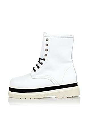 Buffalo London Botas de Cordones Gunnar (Blanco)