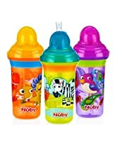 Nuby Flip-it Click-It No Spill Straw Sipper Step 3-Colors May Vary 270ml/9 oz