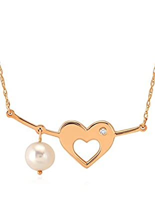 Divas Diamond Collar Diamond Gold Pearl Heart
