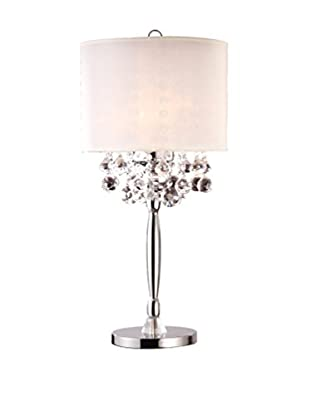 ORE International Crystal Silver 3-Light 30