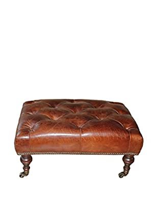 Mélange Home Tufted Ottoman, Vintage Cigar
