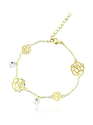 Art de France Pulsera Flower metal bañado en oro 24 ct