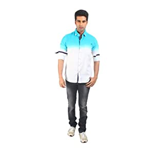 Teemper Blue Casual Shirt With Shading