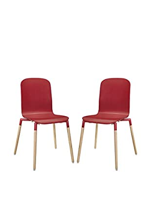 Modway Stack Wood Dining Chairs Set Of 2