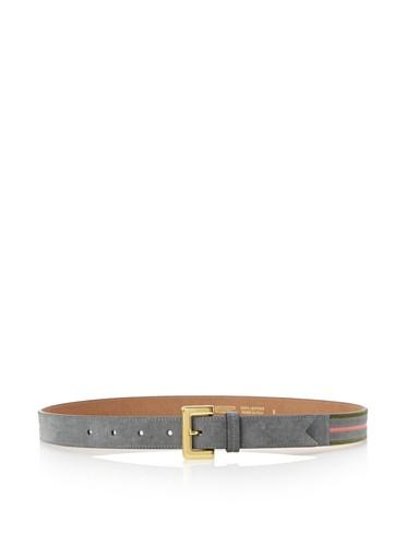 Meredith Wendell Women's Striped Suede Belt (Gunmetal)