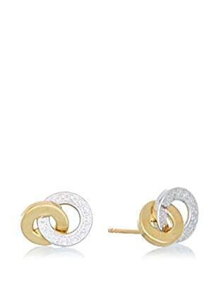 GOLD & DIAMONDS Pendientes Interlocking oro 18 ct