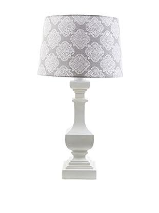 Surya Carolina Outdoor Table Lamp, Grey/White