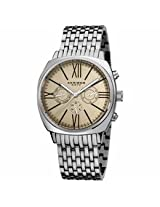 Akribos Cream Dial Stainless Steel Mens Watch Ak636Ssw