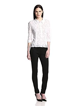 Nina Ricci Women's Lace Polo Shirt (Blanc)