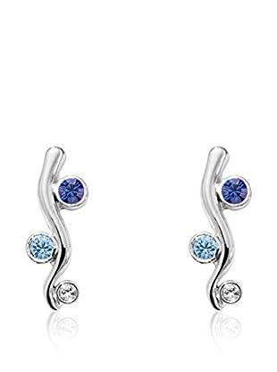 Absolute Crystals Ohrring Xilion Waves blau/hellblau/silberfarben