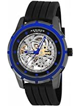 Akribos Automatic Skeleton Dial Stainless Steel Mens Watch Ak444Bu