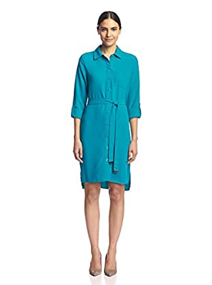Sharagano Women's Shirt Dress with Roll-Up Sleeves
