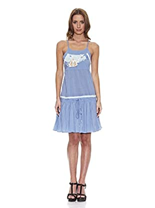 Peace & Love Vestido Liso (Azul)