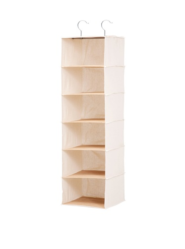 Honey-Can-Do Hanging Closet Organizer, Bamboo/Canvas, 6-Shelf