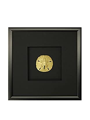 Star Creations Gold Sand Dollar Shadowbox Art