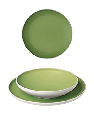 BITOSSI HOME Geschirr 18 Pz Sorbetto grün