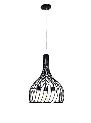 Varaluz Chianti 3-Light Pendant With Pearl Glass, Black