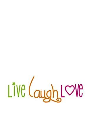 LO+DEMODA Wandtattoo Live Laught Love Colour