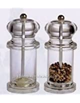 Neha's Pepper Grinder With Metal Blade Transparent and Attractive Body