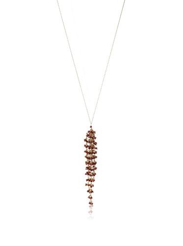 Wendy Mink Gold & Garnet Cluster Necklace