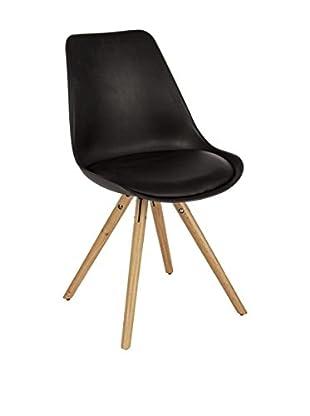 Stuhl 2er Set Trend schwarz
