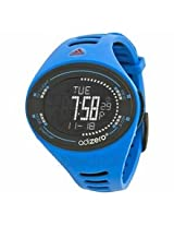 Adidas Adizero Black Digital Dial Blue And Black Polyurethane Mens Watch Adp3511