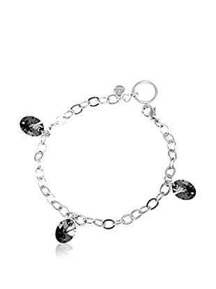 So Charm with Crystals from Swarovski Pulsera  Plateado / Negro