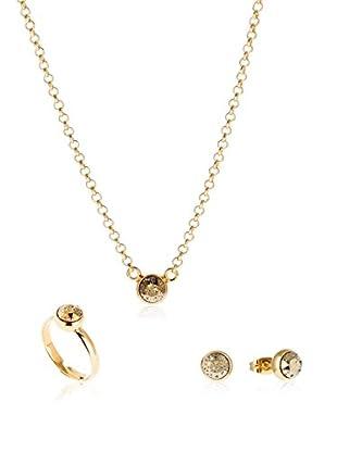 DESTELLOS Conjunto de collar, pendientes y anillo
