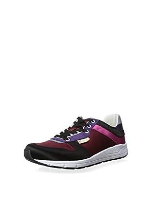 Gucci Men's Colorblocked Sneaker (Black/Red/Purple)