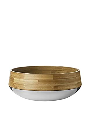 Stelton Kontra Fruit & Salad Bowl, Silver/Natural