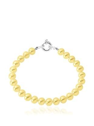 Compagnie générale des perles Braccialetto Giallo/Argento