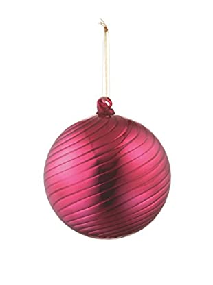 Napa Home & Garden Shiny Swirl Glass Ball Ornament, Fuchsia