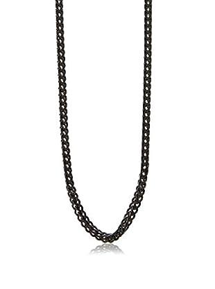 Stephen Oliver Black-Plated Cobra Link Necklace