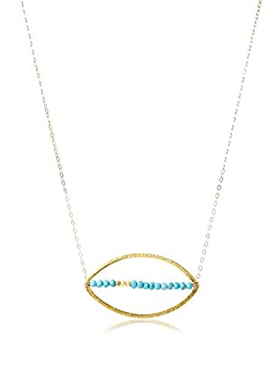 Lucy Dalton Crossing The Line Turquoise Necklace