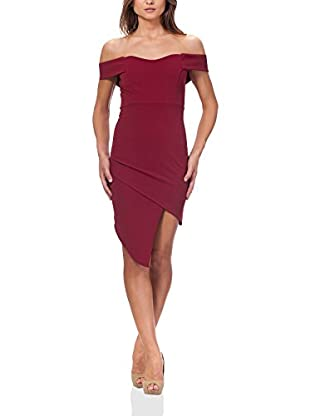MILANO COUTURE Kleid weinrot S