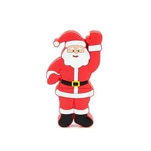 Microware 8GB Santa Claus Raising Hand Shape Pen Drive