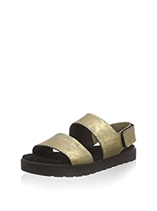 Shabbies Amsterdam sportsole wide strap sandalet Bernina, Damen Sandalen, Blau (Serve), 39 EU