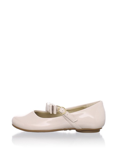 Pampili Kid's Bow Strap Patent Mary Jane (Off-White)