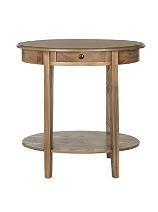 Safavieh Monica Oval End Table, Oak