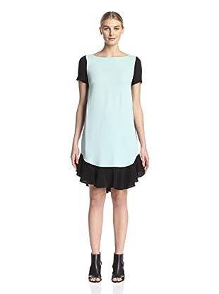 Beatrice B Women's Flounce Hem Colorblock Dress