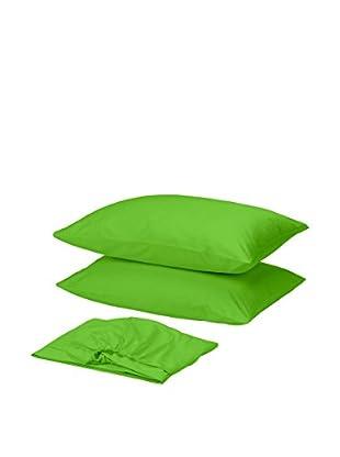 Homemania Betttuch und Kissenbezug grün 210 x 250 cm