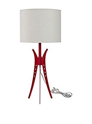 Modway Flair Table Lamp, Red/White