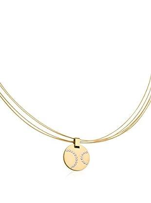 Steel Art Halskette Circus goldfarben