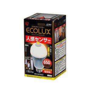 ECOLUX HIGH POWER 人感センサー付き 電球色相当 LDA8L-H-S1の書影
