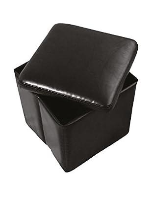 TrendyItalia Puff Contenedor Foldy Negro