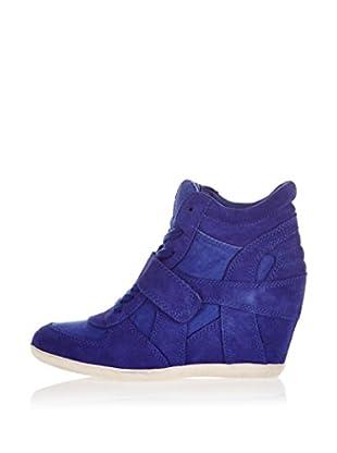 Ash Zapatillas de Cuña Bowie (Azul Oscuro)