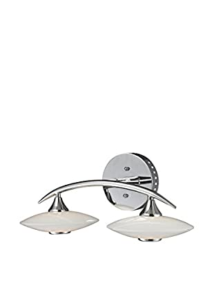 Artistic Lighting 2-Light LED Glass Wall Lamp, Chrome
