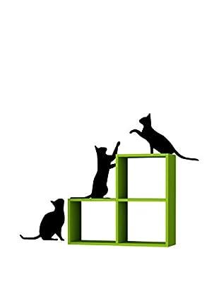 Matte Maison  Regalbrett Cats grün