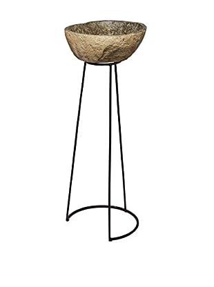 Artistic Lighting Stone & Wire Frame Pedestal, Natural