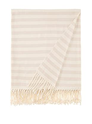 Nine Space Viscose from Bamboo Striped Throw Blanket (Cream)